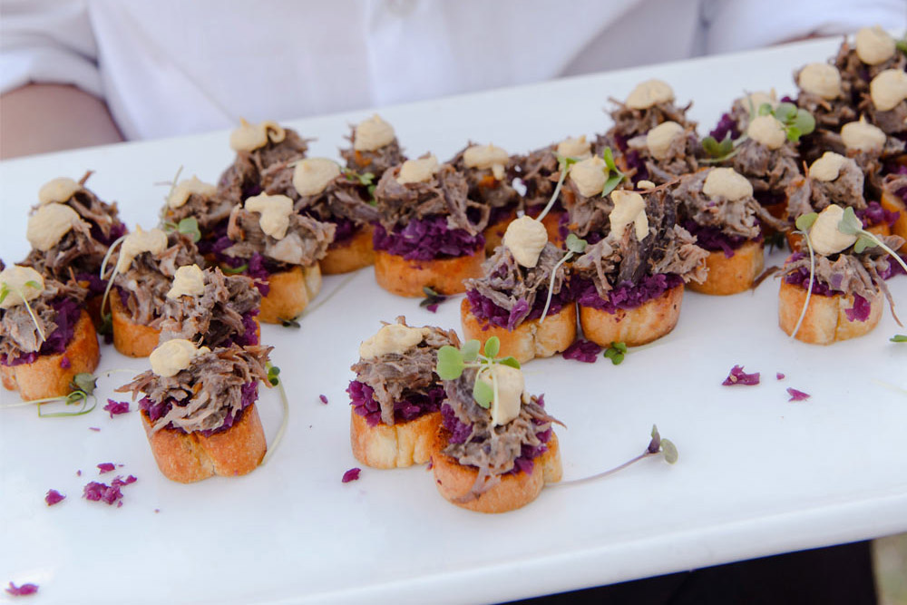 canapes served at a function at plaisir de merle